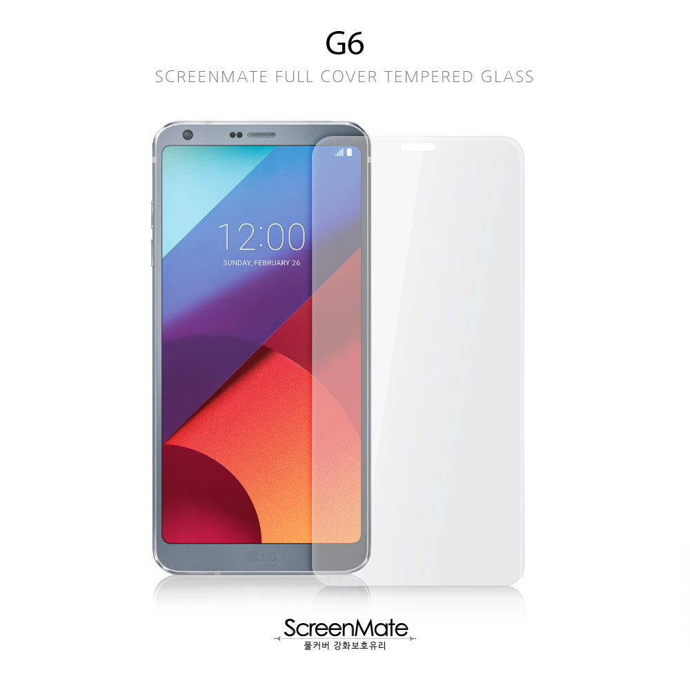 G6, SCREENMATE FULL COVER TEMPERED GLASS